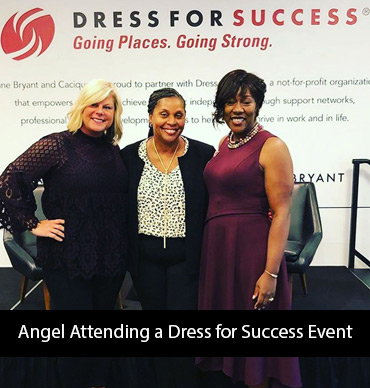 angel-attending-dress-for-success-event